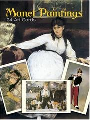 Cover of: Manet Paintings