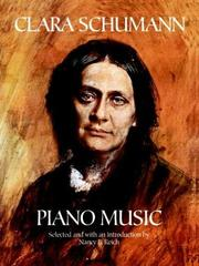 Cover of: Clara Schumann Piano Music
