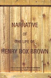 Cover of: Narrative of the life of Henry Box Brown | Henry Box Brown