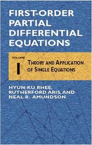 Cover of: First-order partial differential equations