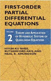 Cover of: Theory and application of hyperbolic systems of quasilinear equations