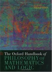 Cover of: The Oxford Handbook of Philosophy of Mathematics and Logic (Oxford Handbooks in Philosophy)