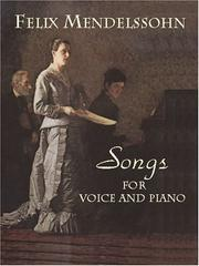 Cover of: Songs for Voice and Piano
