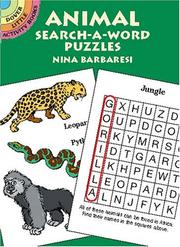 Cover of: Animal Search-a-Word Puzzles (Activity Books, Mazes, Puzzies)