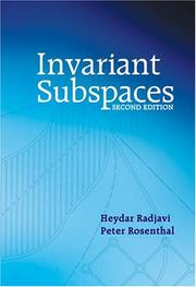 Cover of: Invariant subspaces