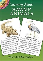 Cover of: Learning About Swamp Animals (Learning about Books (Dover)) | Jan Sovak