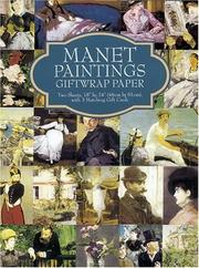 Cover of: Manet Paintings Giftwrap Paper
