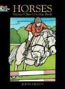Cover of: Horses Stained Glass Coloring Book