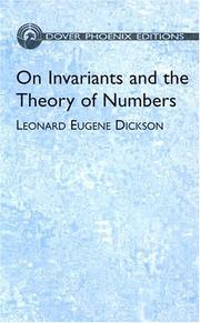 Cover of: On invariants and the theory of numbers