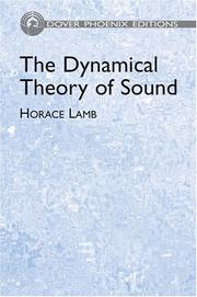 Cover of: The dynamical theory of sound