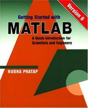 Cover of: Getting Started With MATLAB: Version 6