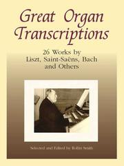 Cover of: Great Organ Transcriptions