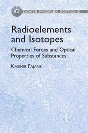 Cover of: Radioelements and isotopes