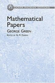 Cover of: Mathematical papers