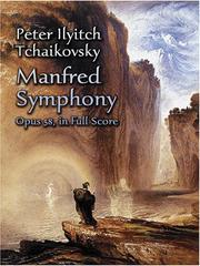 Cover of: Manfred Symphony, Opus 58, in Full Score