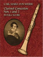 Cover of: Clarinet Concertos Nos. 1 and 2 in Full Score