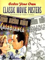 Cover of: Color Your Own Classic Movie Posters