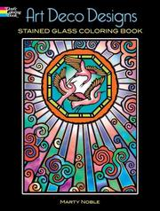Cover of: Art Deco Designs Stained Glass Coloring Book