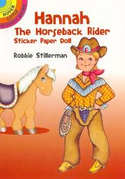 Cover of: Hannah the Horseback Rider Sticker Paper Doll | Robbie Stillerman
