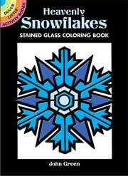 Cover of: Heavenly Snowflakes Stained Glass Coloring Book
