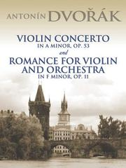 Cover of: Violin Concerto in A Minor, Op. 53