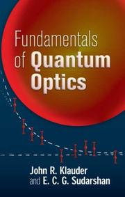 Cover of: Fundamentals of quantum optics