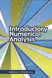 Cover of: Introductory numerical analysis | Anthony J. Pettofrezzo