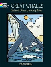 Cover of: Great Whales Stained Glass Coloring Book