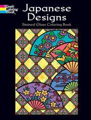 Cover of: Japanese Designs Stained Glass Coloring Book