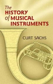 Cover of: The history of musical instruments
