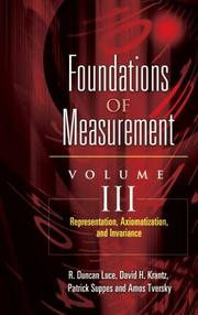 Foundations of Measurement Volume III