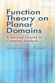 Cover of: Function Theory on Planar Domains