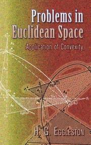 Cover of: Problems in Euclidean space