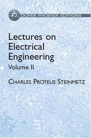 Cover of: Lectures on Electrical Engineering, Vol. II