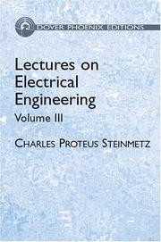 Cover of: Lectures on Electrical Engineering, Vol. III