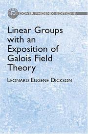 Cover of: Linear groups