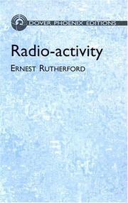 Cover of: Radio-activity