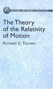 Cover of: The theory of the relativity of motion