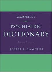 Cover of: Campbell's psychiatric dictionary
