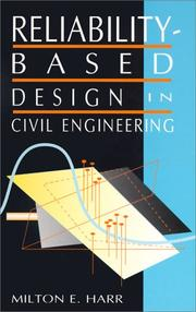 Cover of: Reliability-based design in civil engineering