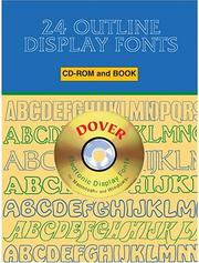 Cover of: 24 Outline Display Fonts CD-ROM and Book | Dover Publications, Inc.