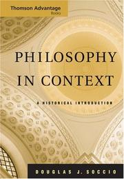 Cover of: Thomson Advantage Books: Philosophy in Context