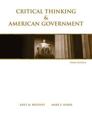 Cover of: Critical Thinking & American Government | Kent M. Brudney