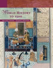 Cover of: World History to 1500 | William J. Duiker