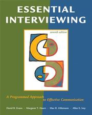 Cover of: Essential Interviewing | David R. Evans