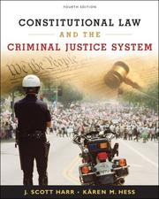 Cover of: Constitutional law and the criminal justice system |