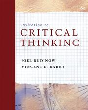 Cover of: Invitation to critical thinking |