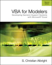 VBA for modelers by S. Christian Albright