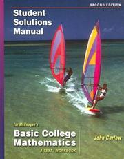 Cover of: Student Solutions Manual for McKeague's Basic College Mathematics: A Text/Workbook, 2nd