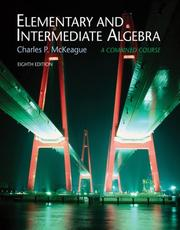 Cover of: Elementary and Intermediate Algebra (with ThomsonNOW, Personal Tutor with SMARTHINKING Printed Accesss Card)